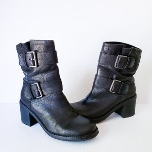 Sam Edelman Troy Leather Double Buckle Boots